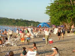 Crowded CR Beach