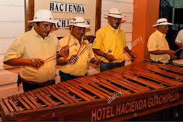 3 men playing the Marimba in Costa Rica