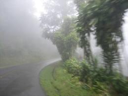 Hillside road near Playa Hermosa Costa Rica