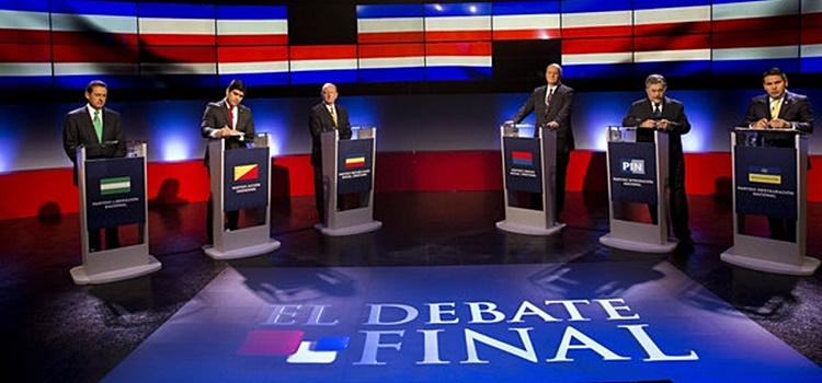 Costa Rica's Presidential Candidates in a debate