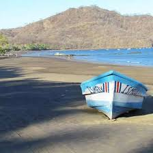 Fishing boat on the beach of Playas del Coco Costa Rica