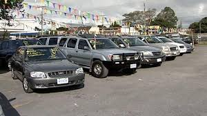 A lineup of used cars for sale in Costa Rica