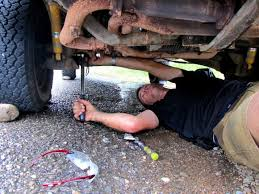 Mechanic repairing a car in Costa Rica