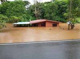 Home flooded in Costa Rica