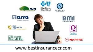 Logos of insurance companies in Costa Rica