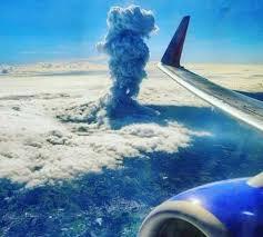 Costa Rica Vocano From Plane
