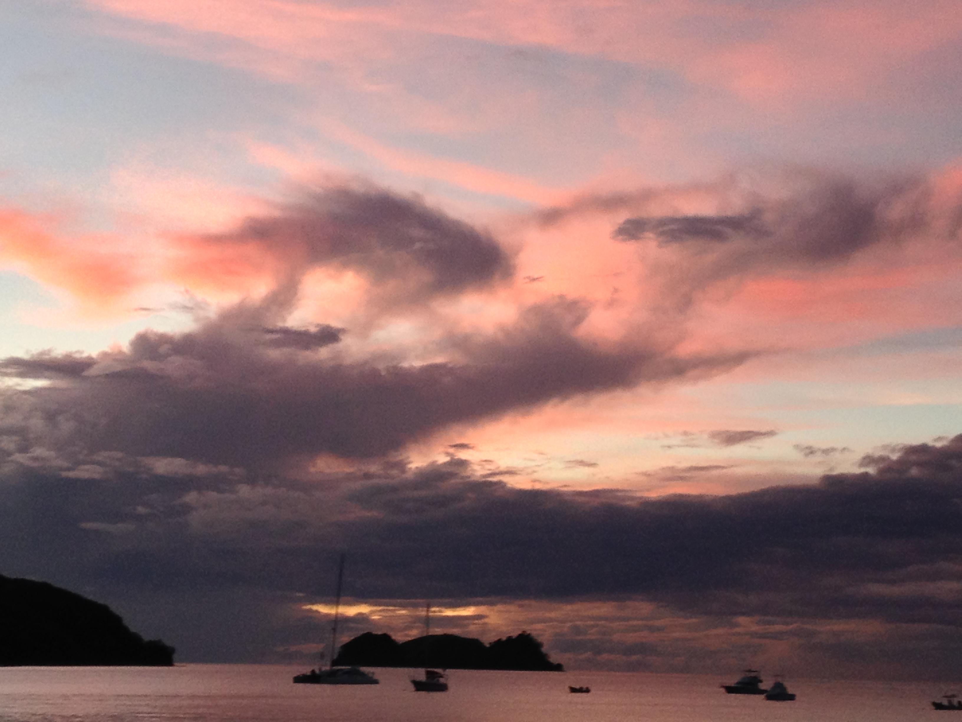 sun set Playa Hermosa