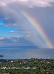 Rainbow over the Pacific in Costa Rica