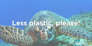 Warning to not put plastics in the Oceans for Oceans Day