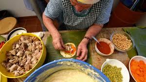 Makaing tamales In Costa Rica