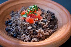 A plate of Gallo Pinto, Costa Rica's traditional food