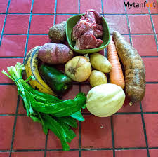 Typical vegetables used in Olla de Carne