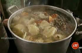 Big pot of Olla de Carne