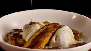 Plantains over ice cream