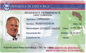 Example of a Costa Rica cedula given to legal foreign residents