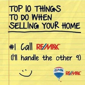 Graphic about the top 10 things to do when selling a home