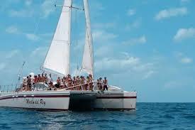Catamaran sailboat in Pacific Costa Rican waters