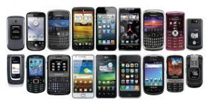 Image of many cell phones