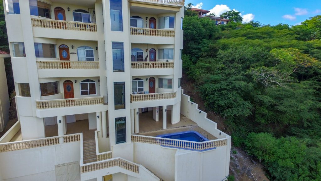 Ocean view condo complex near Playa Hermosa in Guanacaste