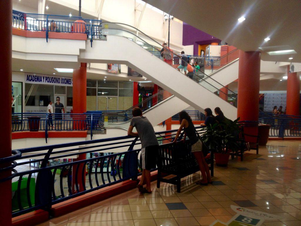 Inside the Liberia shopping mall in Costa Rica