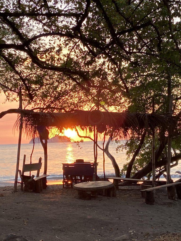 Sunset at Playa Hermosa - beach in Costa Rica