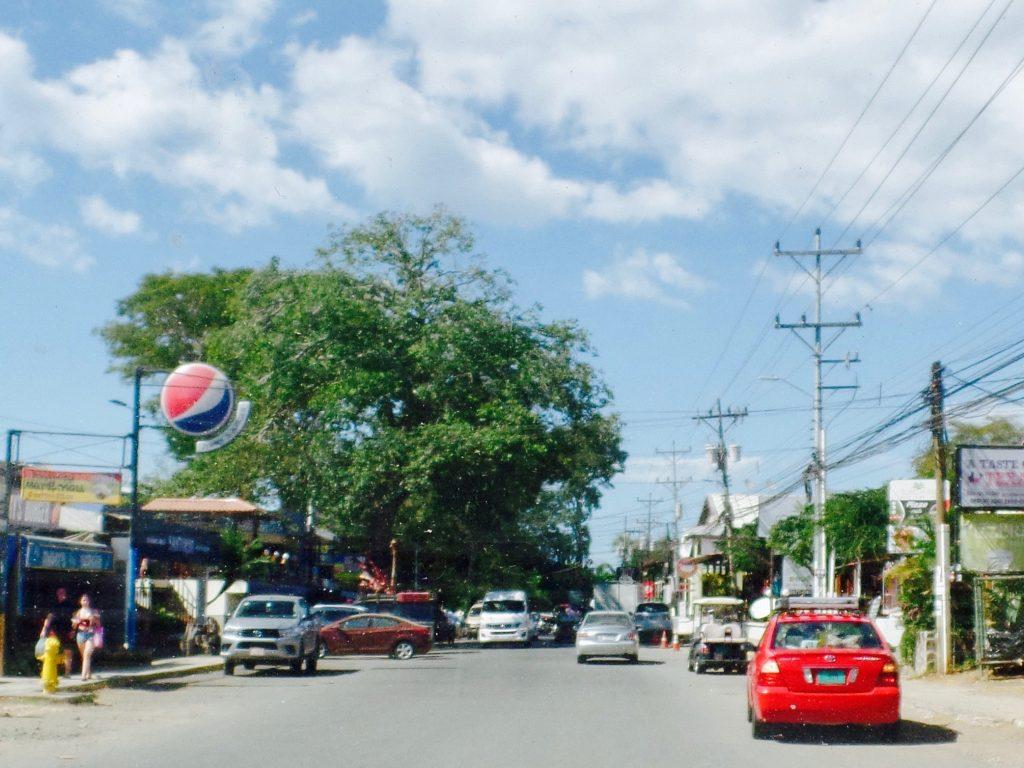 Main street Playas del Coco Costa Rica