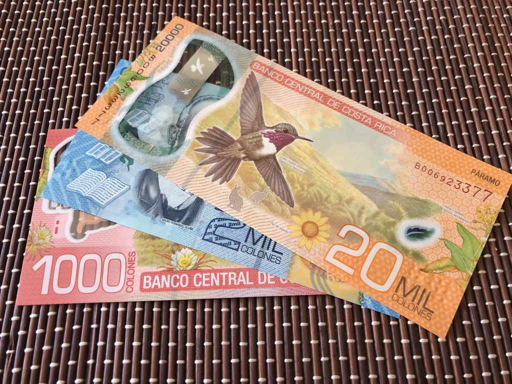 Photo of Costa Rica currency